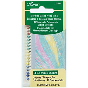 Clover 2511 - Marbled Glass Head Pins