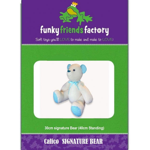 Calico Signature Teddy Bear Sewing Pattern