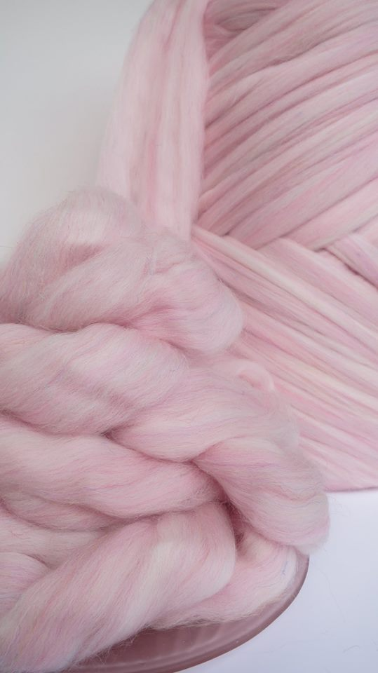 Hand-dyed fibre in Candy Corrie Fizz - Premium