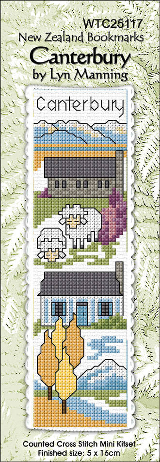 Cross-stitch bookmark - Canterbury