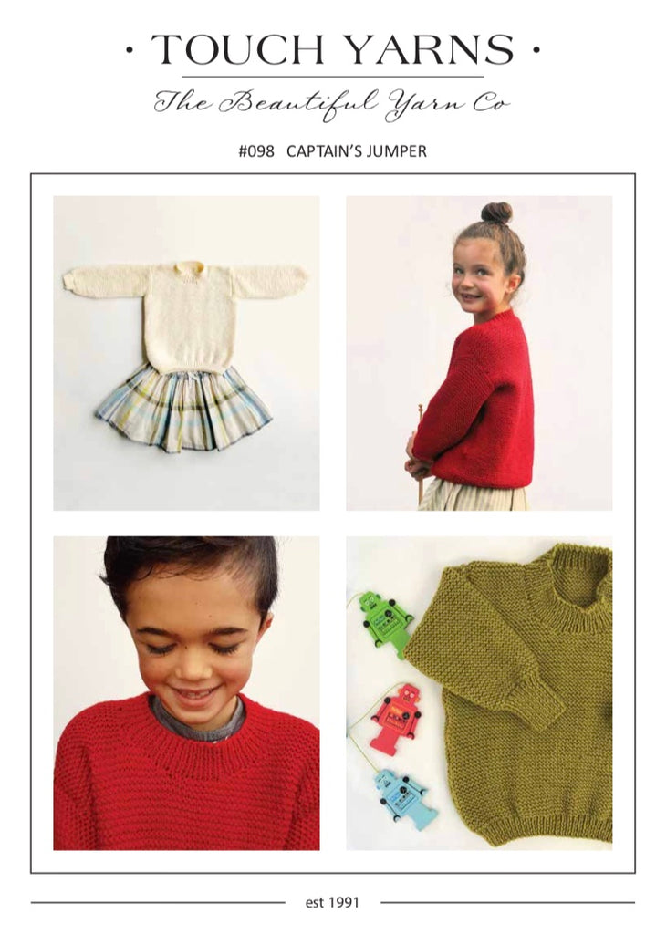 Touch Knitting Pattern 98 - Children's Pullover in 8-ply / DK Merino for ages 1-10