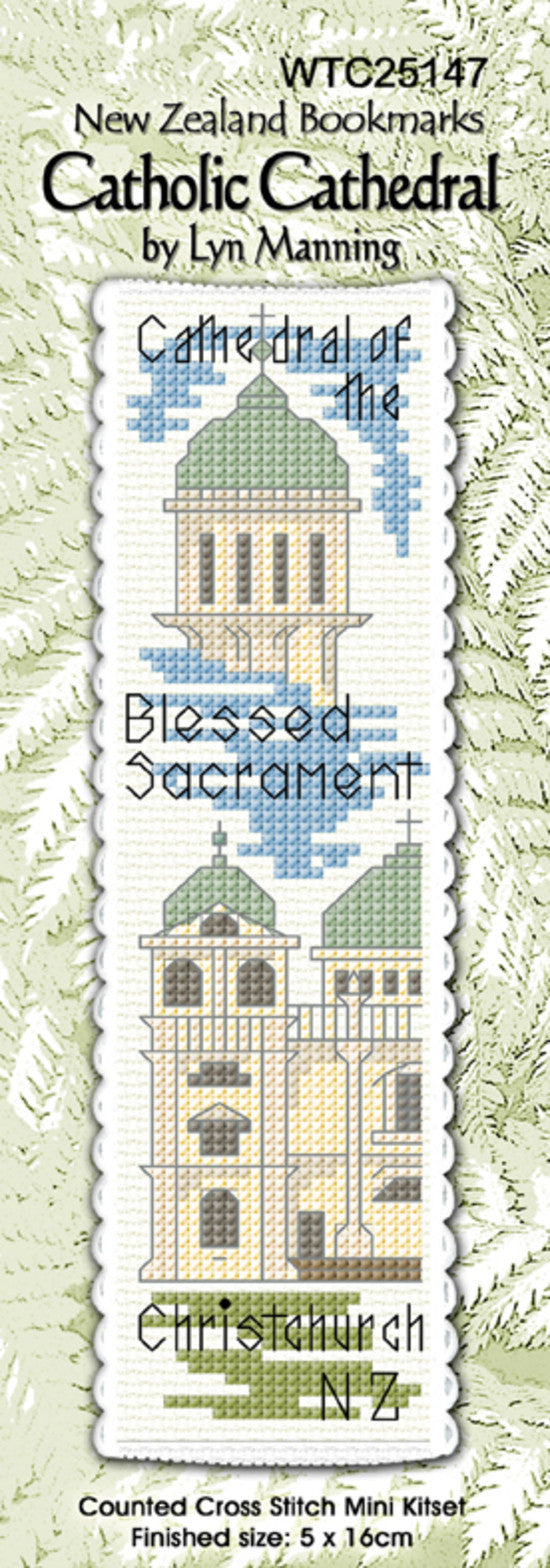 Cross-stitch bookmark - Catholic Cathedral