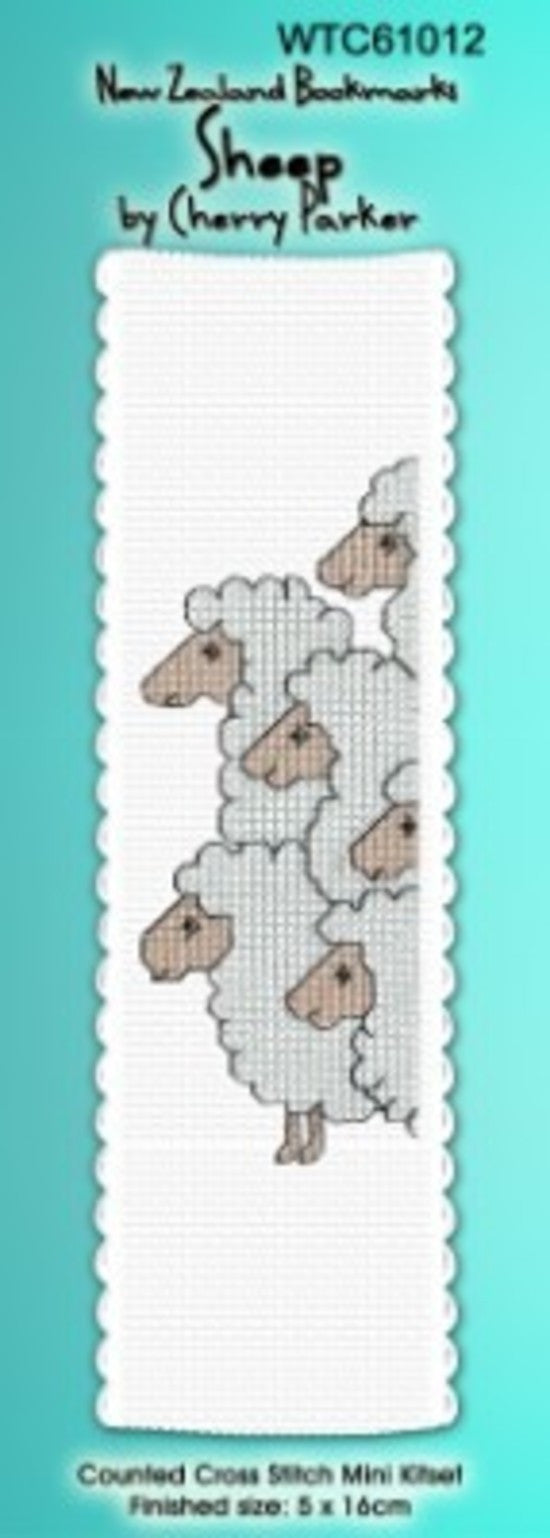Cross-stitch bookmark - Sheep