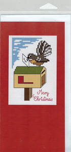 Cross-Stitch Card and Bookmark set - Christmas Post