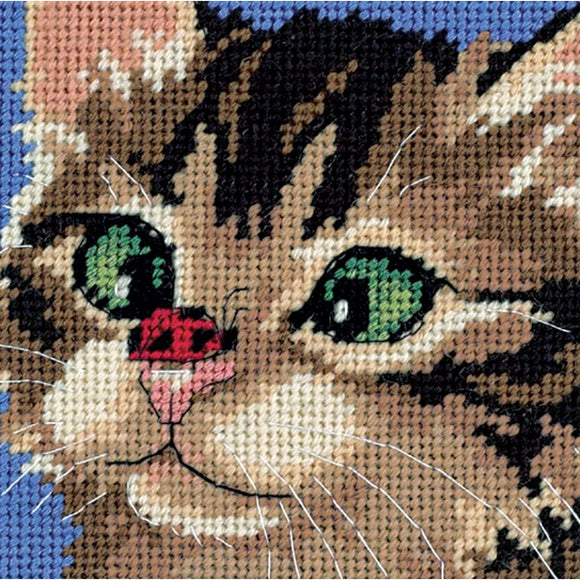 Dimensions Mini Needlepoint Kit - Cross-Eyed Kitten