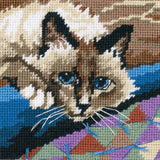Dimensions Mini Needlepoint Kit - Cuddly Cat