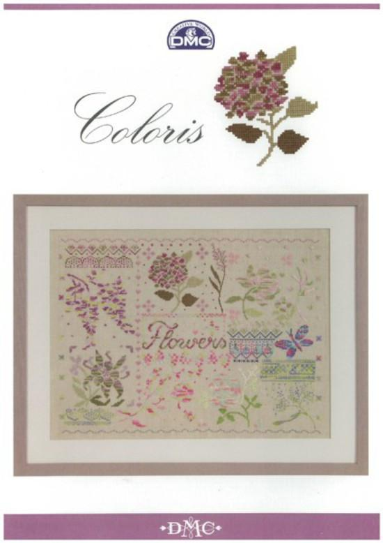 Cross-stitch chart - DMC Coloris Flowers Sampler