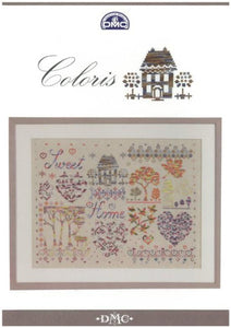 Cross-stitch chart - DMC Coloris Home Sweet Home Sampler