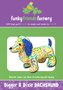 Digger & Dixie Dachshund Sewing Pattern
