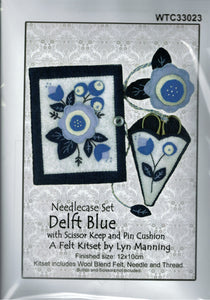 Felt Kit - Needlecase Set in Delft Blue