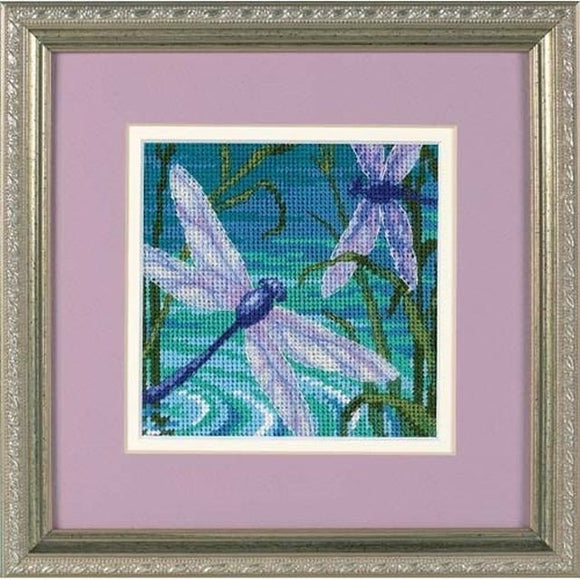 Dimensions Mini Needlepoint Kit - Dragonfly Pair