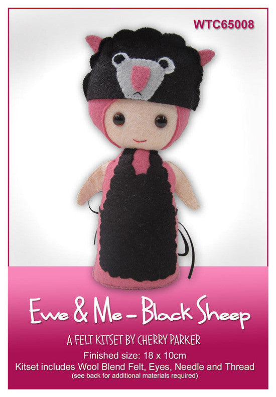 Felt Kit - Ewe & Me - Black Sheep