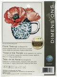 Dimensions Mini Needlepoint Kit - Floral Teacup