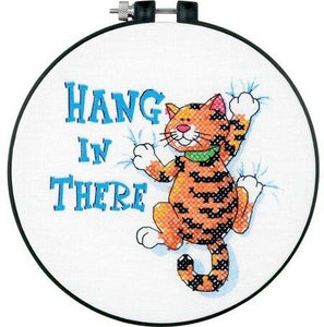 Dimensions Learn A Craft Stamped Cross-Stitch Kit - Hang in There