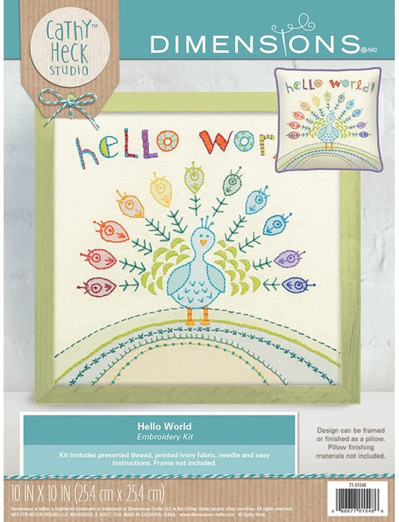Dimensions Embroidery Kit - Hello World