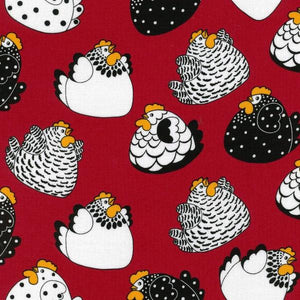 Bright Happy Hens - Red