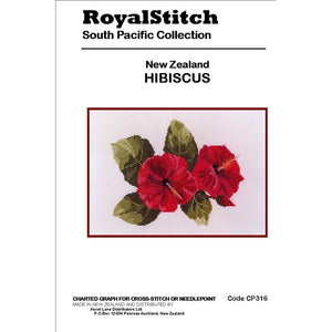 Cross-stitch chart - Royal Stitch New Zealand Hibiscus