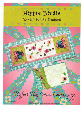 Hippie Birdie Table Runner & Placemats Pattern by Bigfork Bay Cotton Company
