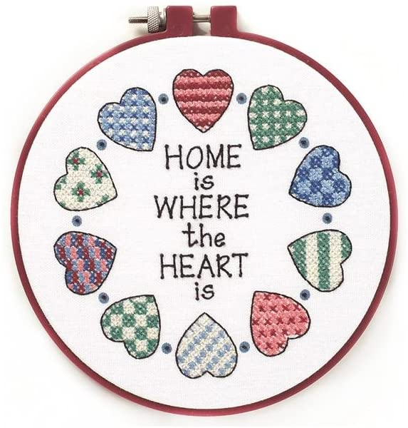 Dimensions Learn A Craft Stamped Cross-Stitch Kit - Home and Heart