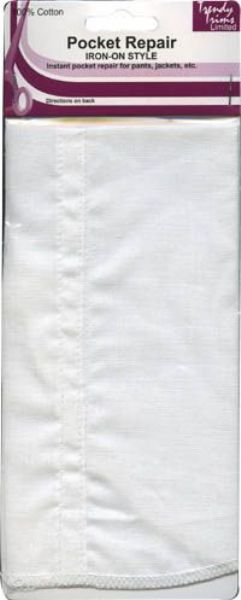 Pocket Repair - Iron-on or Sew-in pocket replacement