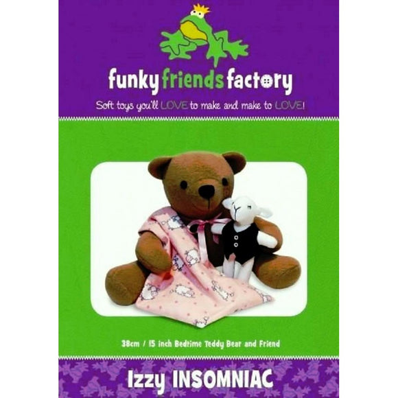 Izzy Insomniac Teddy Bear Sewing Pattern