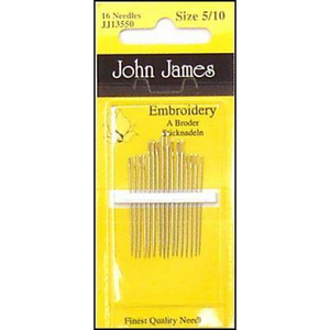John James JJ13550 - Embroidery sizes 5/10, set of of 16