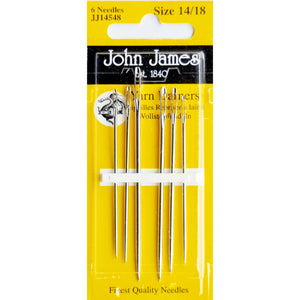 John James - Set of 6 Yarn darners, sizes 14-18