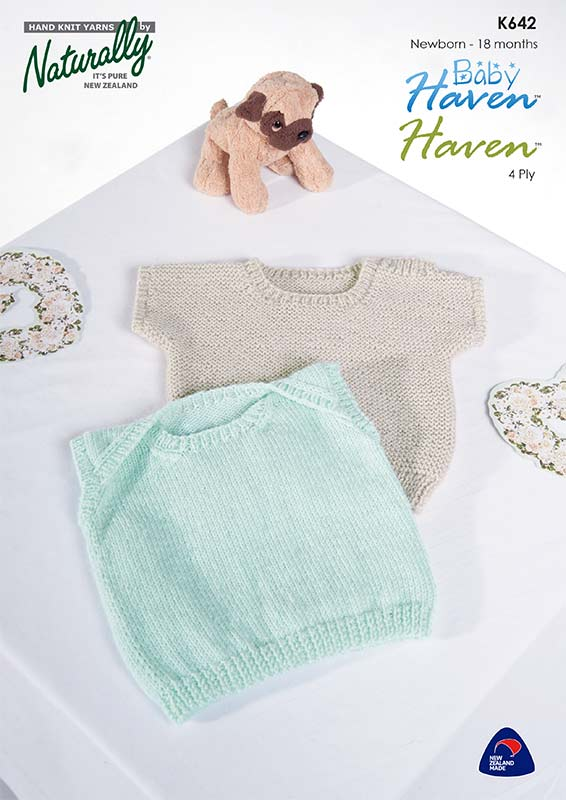 Naturally Knitting Pattern K642 Two Baby Singlets In 4 Ply