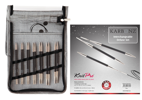 Knitpro - Karbonz Deluxe Interchangable Needle Set