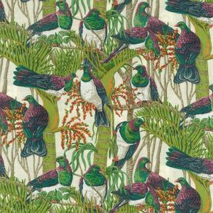 Kereru / New Zealand Wood Pigeons on Cream background
