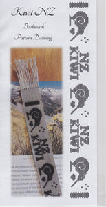 Embroidery Bookmark Kit - Kiwi NZ