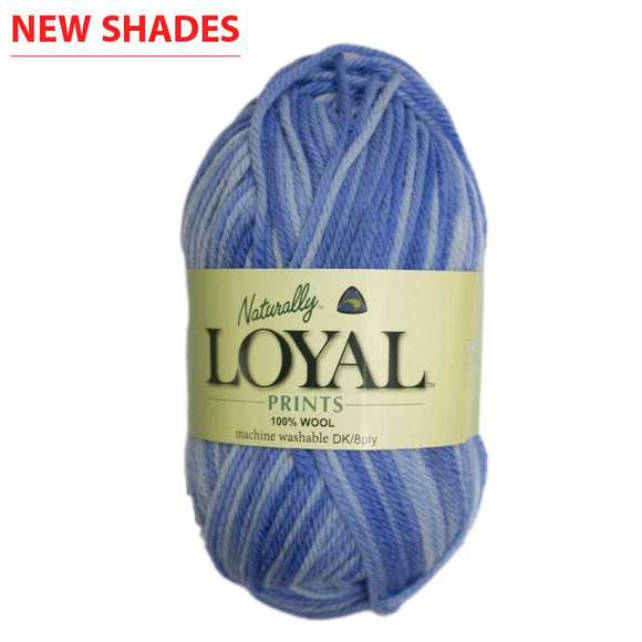 Naturally - 100% New Zealand Loyal Patterned Print 8-Ply / DK