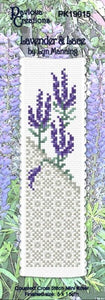 Cross-stitch bookmark - Lavender