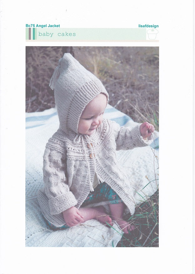 Lisa F Design Knitting Pattern BC75 - Angel Jacket for ages 0-24 months in 8-ply / DK