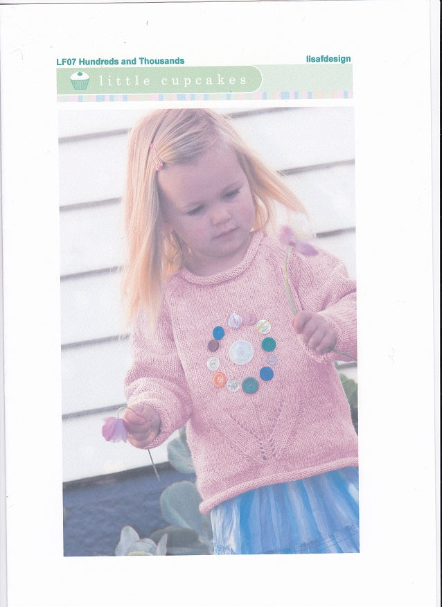 Lisa F Design Knitting Pattern LF07 - Hundreds and Thousands Jumper for ages 1-8 years in 8-ply / DK