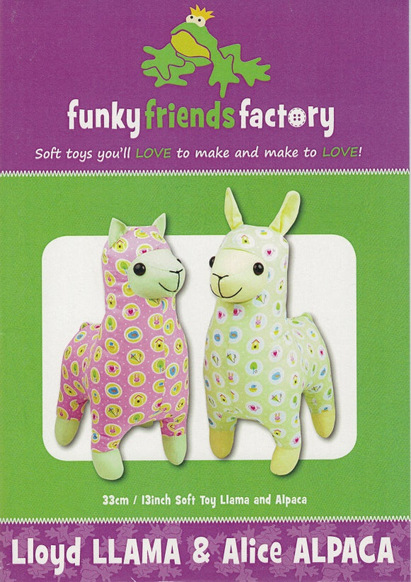 Lloyd Llama & Alice Alpaca Sewing Pattern
