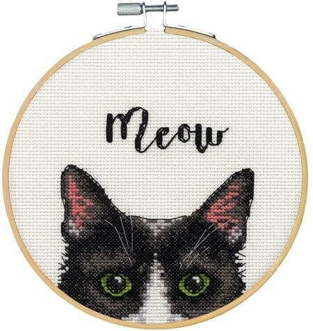 Dimensions Learn A Craft Counted Cross-Stitch Kit - Meow