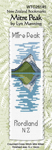 Cross-stitch bookmark - Mitre Peak