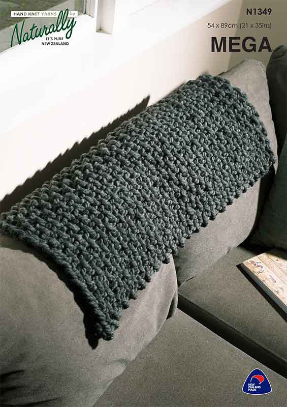 Naturally Knitting Pattern N1349 - Super Chunk Throw