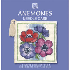 Cross-stitch Needlecase kit - Anemones