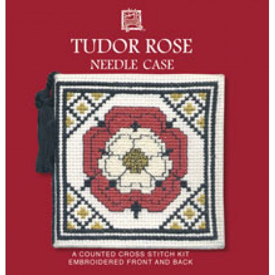Cross-stitch Needlecase kit - Tudor Rose