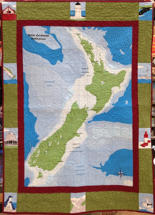 Quilt Kit - New Zealand Map Quilt