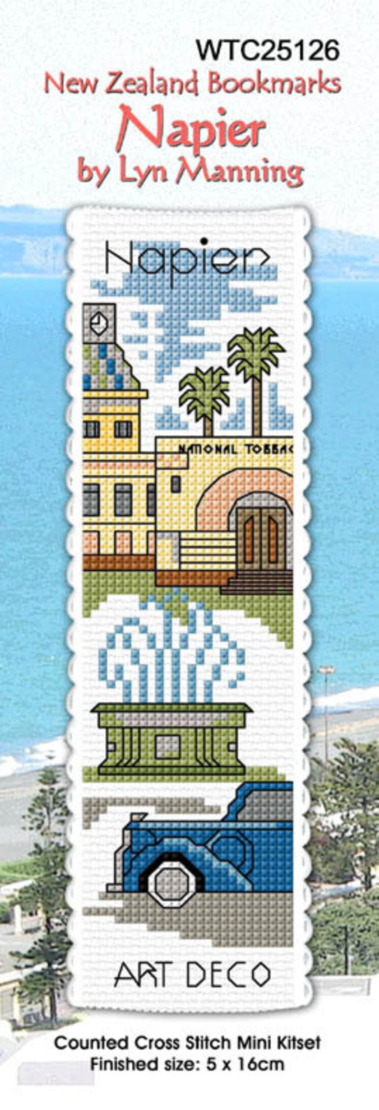 Cross-stitch bookmark - Napier