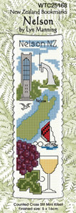 Cross-stitch bookmark - Nelson