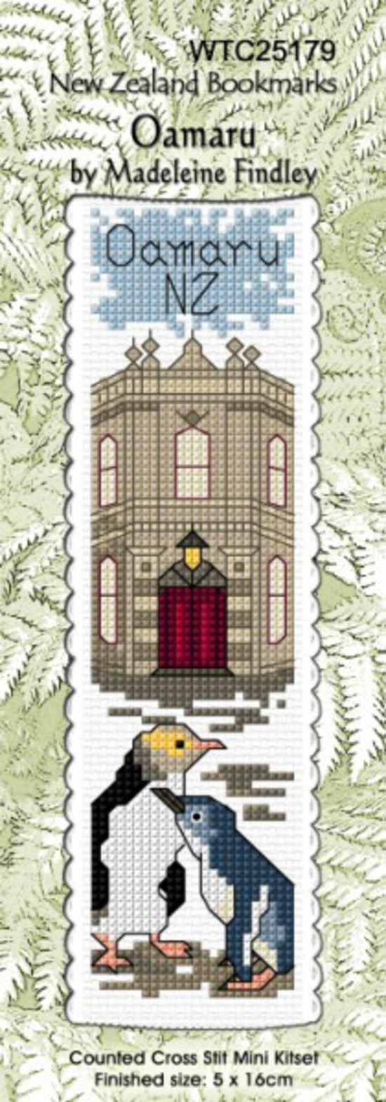 Cross-stitch bookmark - Oamaru