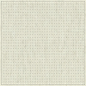 Japanese Sashiko Cloth Panel - Hitome-Zashi Oblique Grid 2 - Printed Grid on Natural Greige-Off-white.