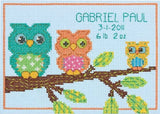 Dimensions Counted Cross Stitch Kit - Owl Birth Record
