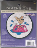 Dimensions Learn A Craft Counted Cross-Stitch Kit - Perky Puppy