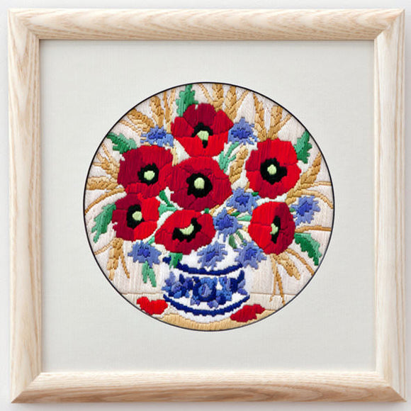 Long Stitch Kit - Poppies