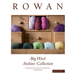 Rowan Knitting Book - Big Wool Archive Collection - 8 Designs by the Rowan Design Team using Rowan Big Wool